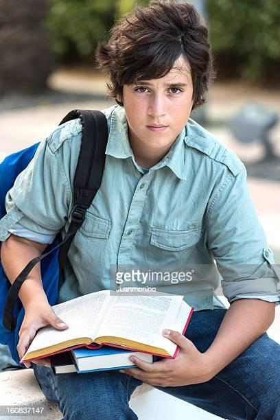 Teenage boy student