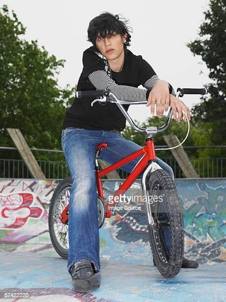 Teenage boy with bmx