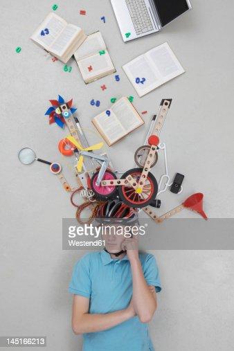 Teenage boy with gadgets
