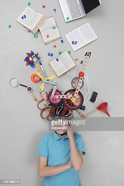 Teenage boy with gadgets