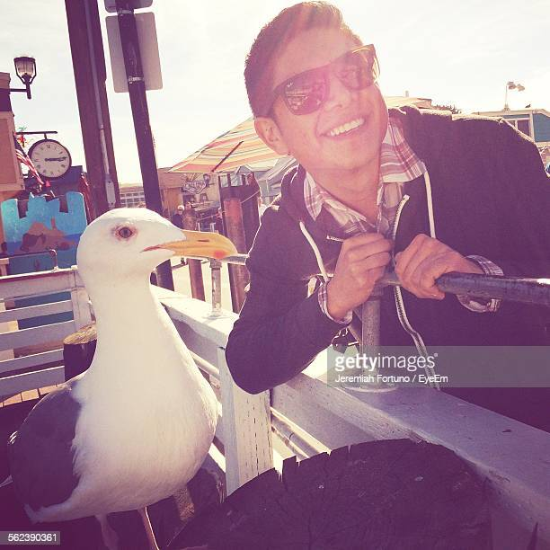 Teenage Boy With Seagull