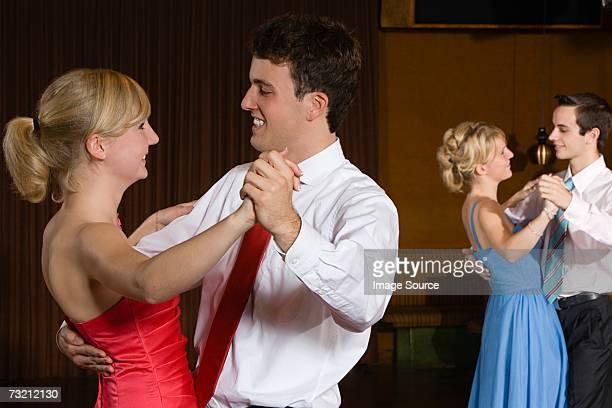 Teenage couple dancing