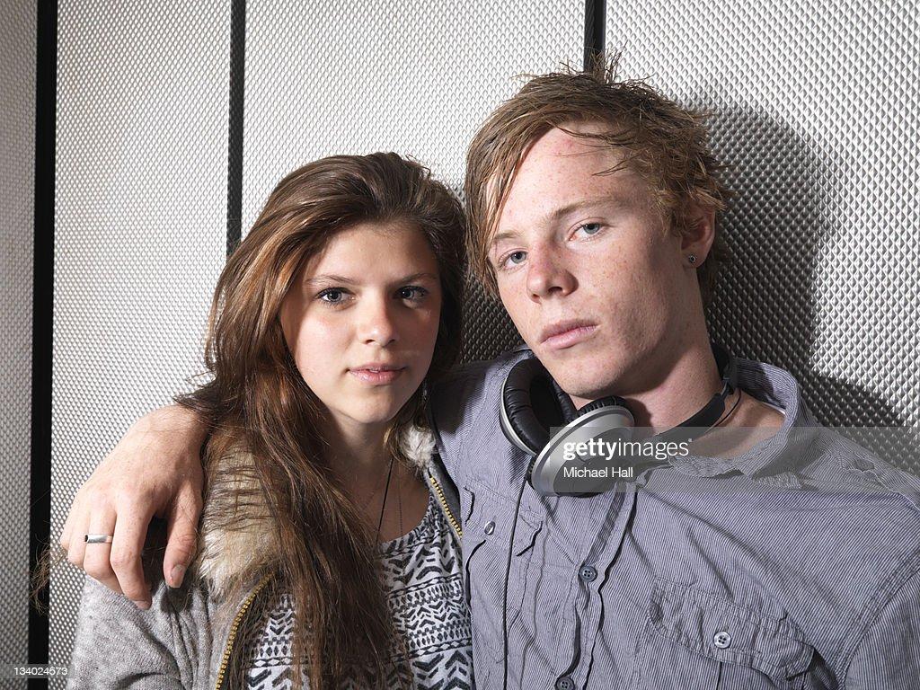 Teenage couple : Stock Photo
