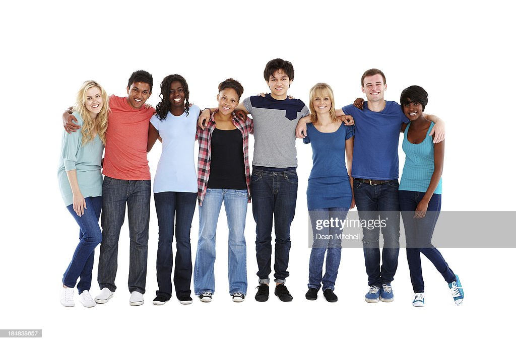 Teenage Friends Standing Together