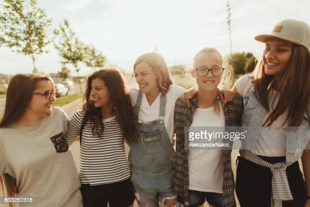 Teenage friendship