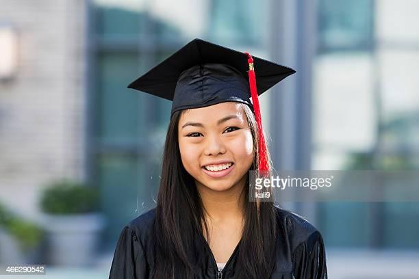 Teenage girl  at high school graduation