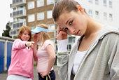 Teenage girl being harassed