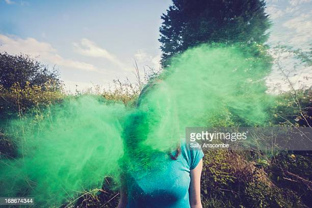 Teenage girl going green