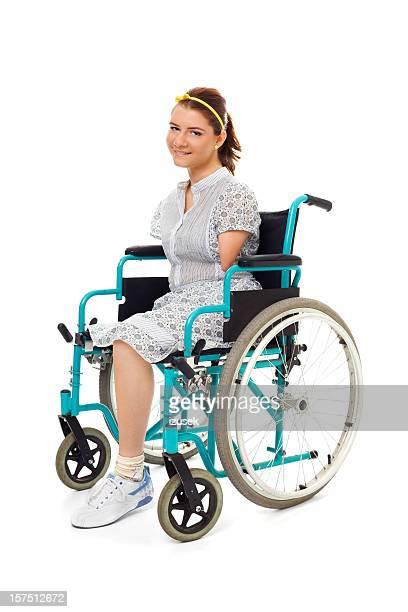 Teenage Girl In A Wheelchair, Studio Portrait