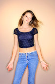 Teenage girl in crop top