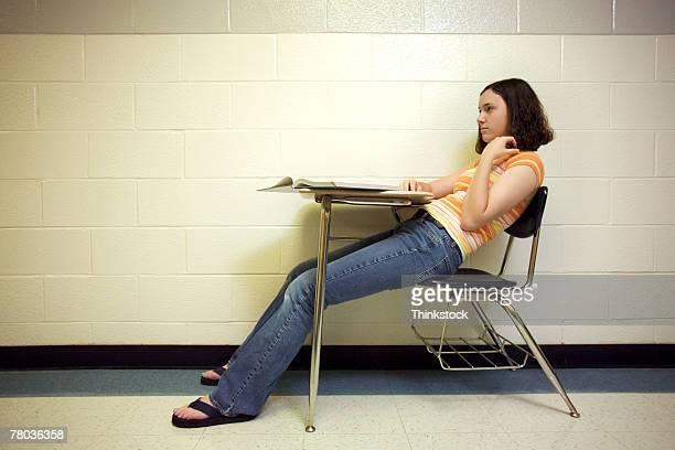 Teenage girl in school