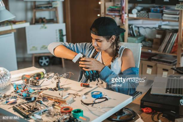 Teenage girl in STEM