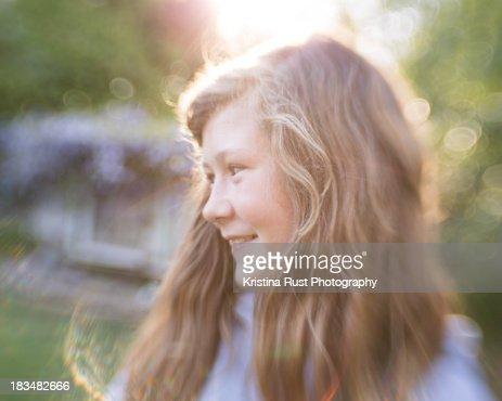 Teenage Girl In Sunlight