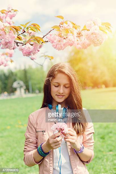 Teenage girl in the park