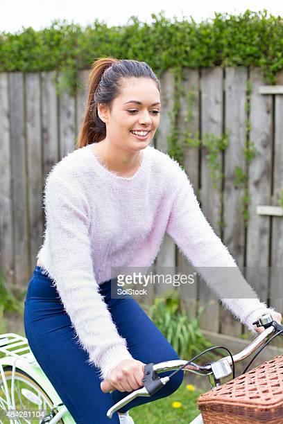 Teenage girl on bike