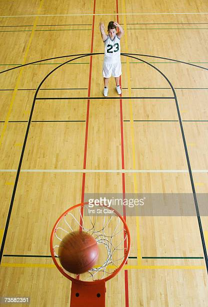 Basketball court above stock photos and pictures getty for Average basketball court size