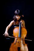 Teenage girl playing cello