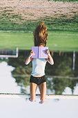 Teenage girl reading