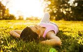 Teenage girl relaxing.