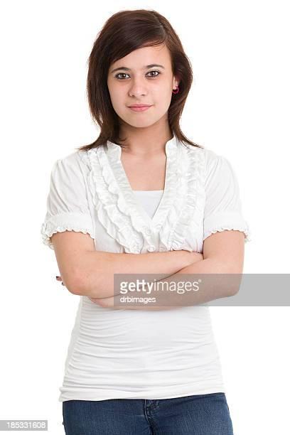 Teenage Girl Serious Portrait