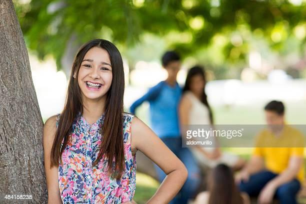 Teenager Mädchen Lächeln