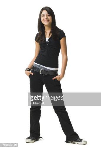 Teenage girl standing