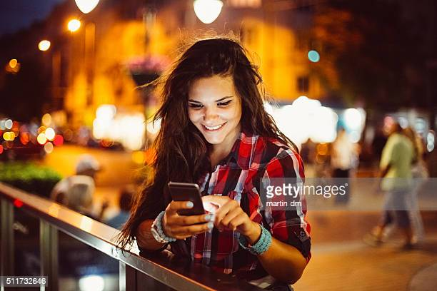 Teenage girl texting