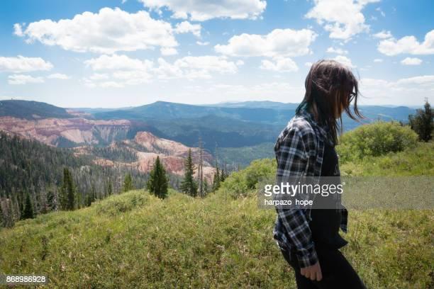 Teenage girl walking at Cedar Breaks National Monument