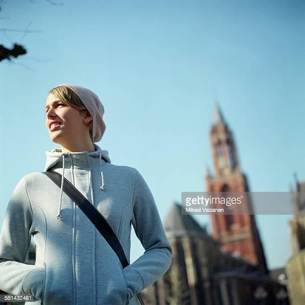 Teenage Girl Walking Outdoors