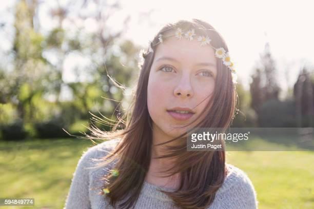 Teenage Girl with Daisy Chain