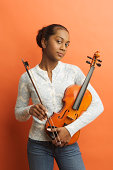 Teenage girl with violin