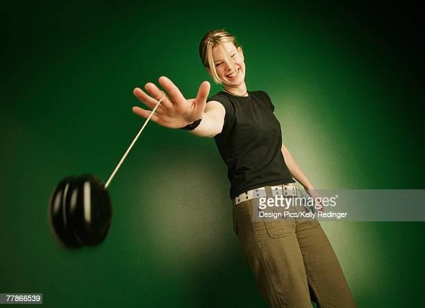 Teenage girl with yo-yo