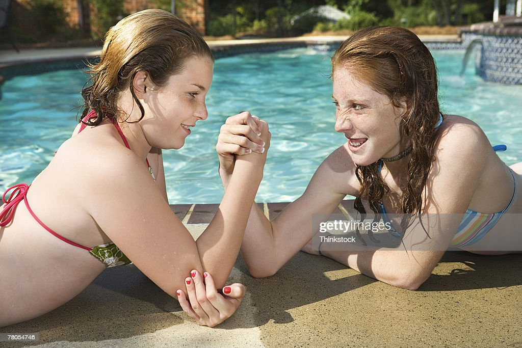 Opinion Girls wreatling in pool congratulate, very