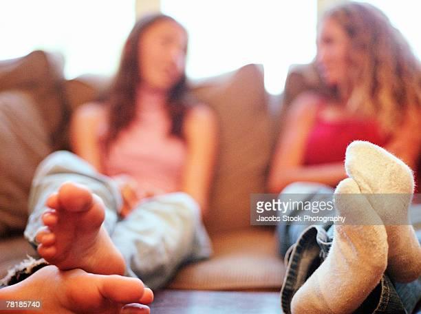 Teenage girls' feet