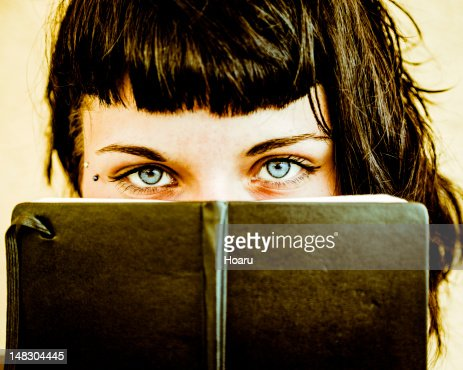 TeenAge Look with Her Personal Diary : Stock Photo