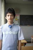 Teenage male student (16-18), portrait