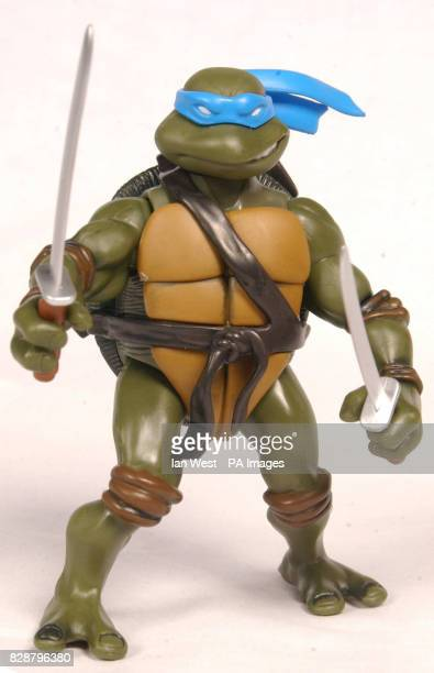 Teenage Mutant Ninja Turtle one of the top 10 toys children are expected to want for Christmas on show at Dream Toys 2003 One of the bestselling toys...