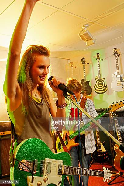 Teenage Rock Band Performing