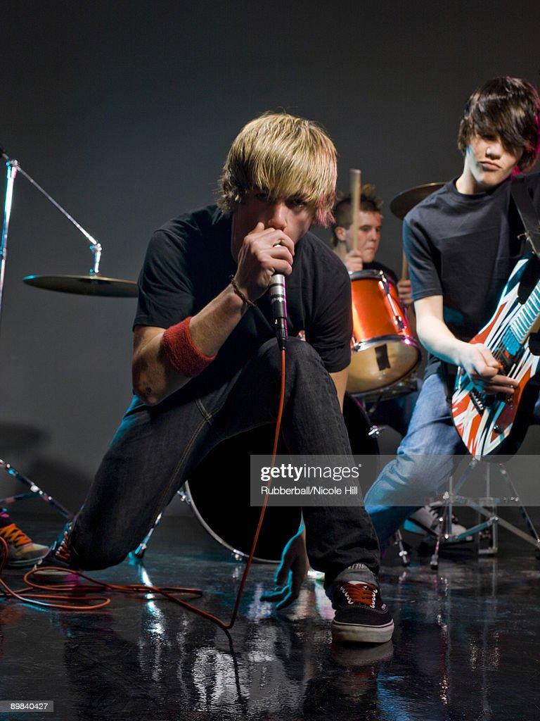 teenage rock band : Stock Photo