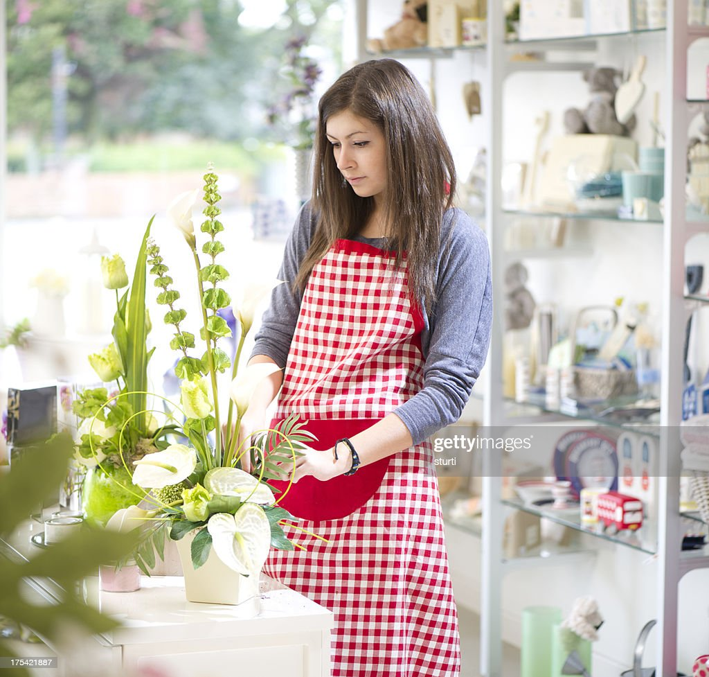 teenage shop assistant