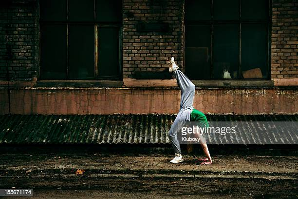 Teenage street dancer