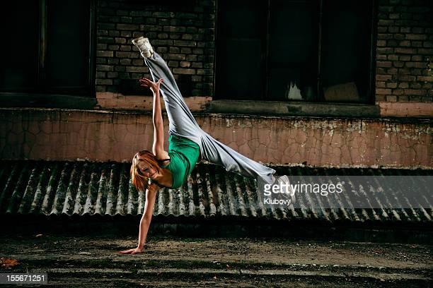 Teenage street dancer