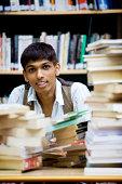 teenage students: book worm