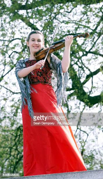 Teenage violin prodigy Chloe Hanslip from Surrey launches the Proms Season at the Royal Albert Hall central London Chloe is the youngest soloist...