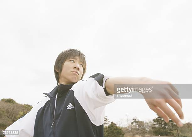 Teenageboy playing baseball