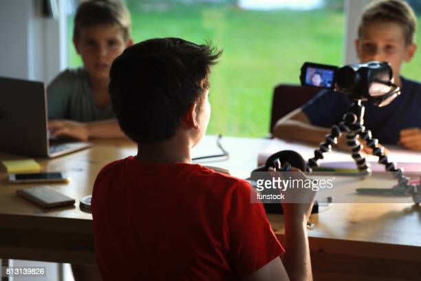 Teenager blogging