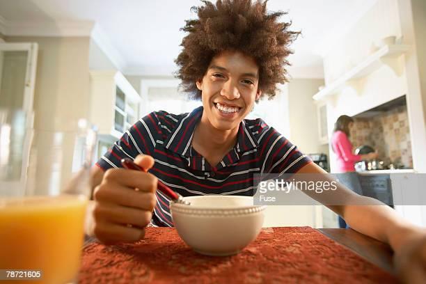 Teenager Eating Breakfast
