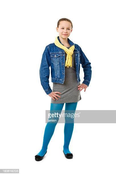 teenager girl standing