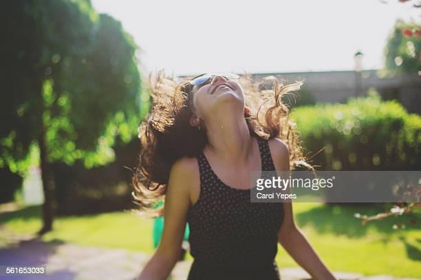 Teenager happy girl
