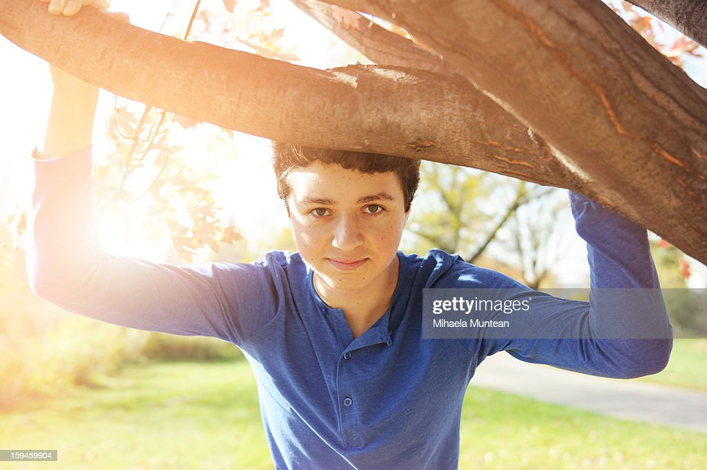 Teenager in a park : Stock Photo